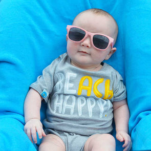 Beach Happy Recycled Baby Onesie