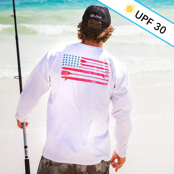 Paddle Flag Recycled Long Sleeve Sun Shirt