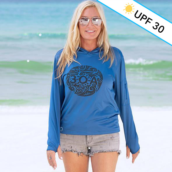 Tribal 30A Recycled Sun shirt Hoodie Royal