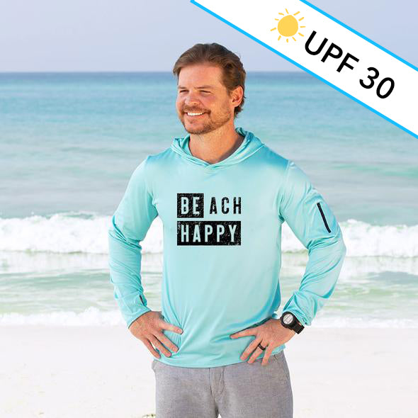 Block Beach Happy® Recycled Sun Shirt Hoodie