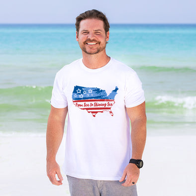 30A From Sea to Shining Sea Recycled Tee