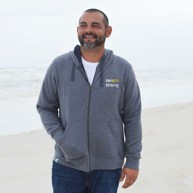 Beach Strong Recycled Full-Zip Sweatshirt - Proceeds Benefit Breast Cancer Awareness