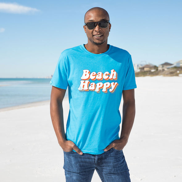 Retro Beach Happy Recycled Tee