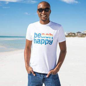 Rainbow Beach Happy Recycled Tee