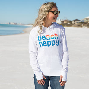 Rainbow Beach Happy Recycled Hoodie