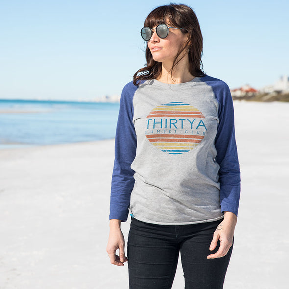 ThirtyA Sunset Club Recycled Baseball Tee