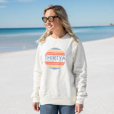 ThirtyA Sunset Club Recycled Crewneck Sweatshirt