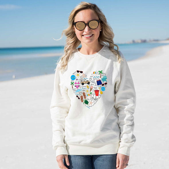 Callie Danielle Beach Love Recycled Crew Sweatshirt