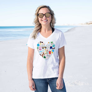 Callie Danielle Beach Love Recycled V-Neck