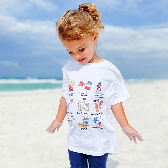 Callie Danielle x 30A Patriotic Recycled Youth Tee