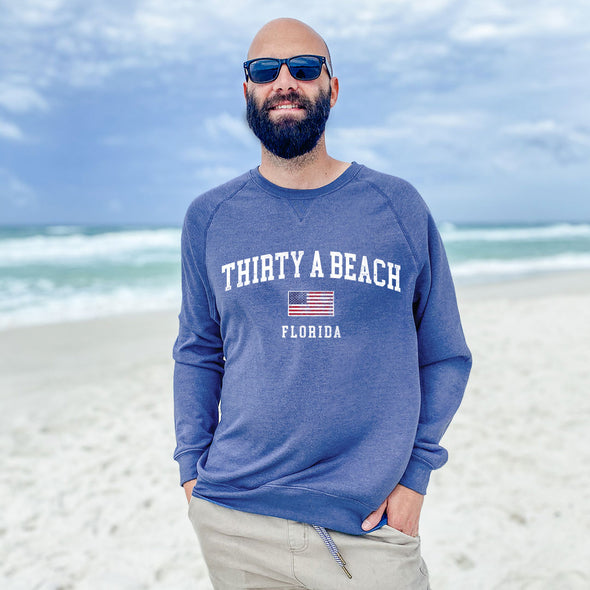 Thirty A Beach USA Recycled Crew Sweatshirt
