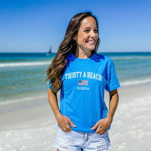 Thirty A Beach USA Recycled Tee