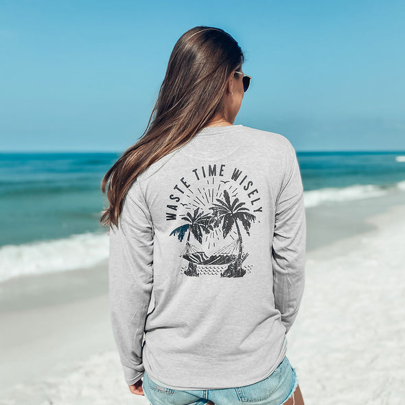 Waste Time Wisely Recycled Long Sleeve