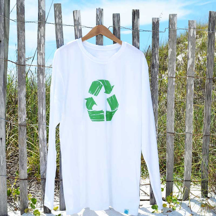 Recycle Symbol on a Recycled Shirt (Long-Sleeve)