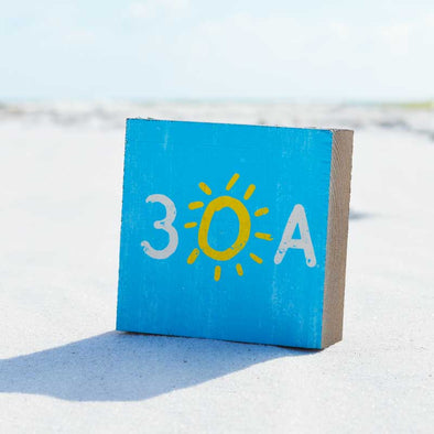 Wooden 30A Beach Happy Sign