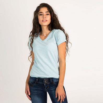 Women's Basic Short Sleeve Recycled V-Neck