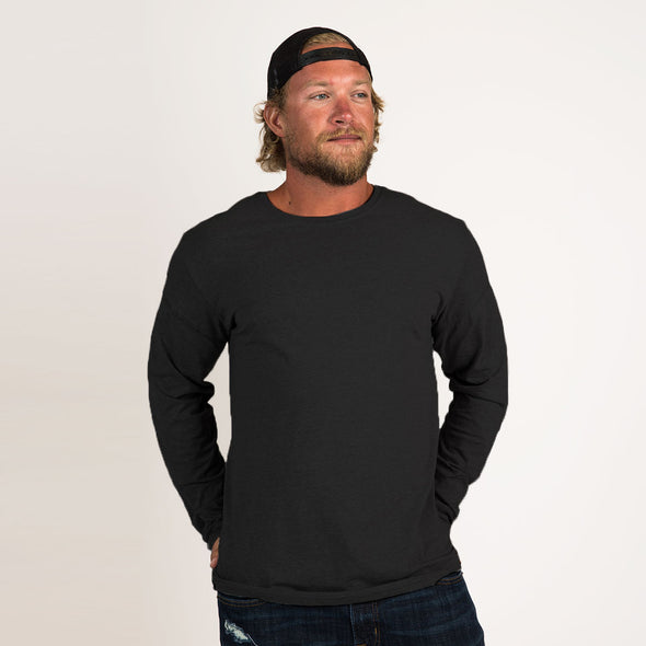 Men's Basic Long Sleeve Recycled Tee
