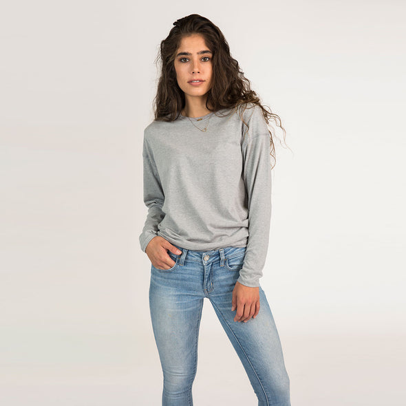 Women's Basic Long Sleeve Recycled Tee