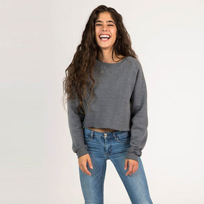 Women's Basic Recycled Cropped Crew Sweatshirt