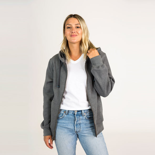 Women's Basic Recycled Full Zip Hoodie