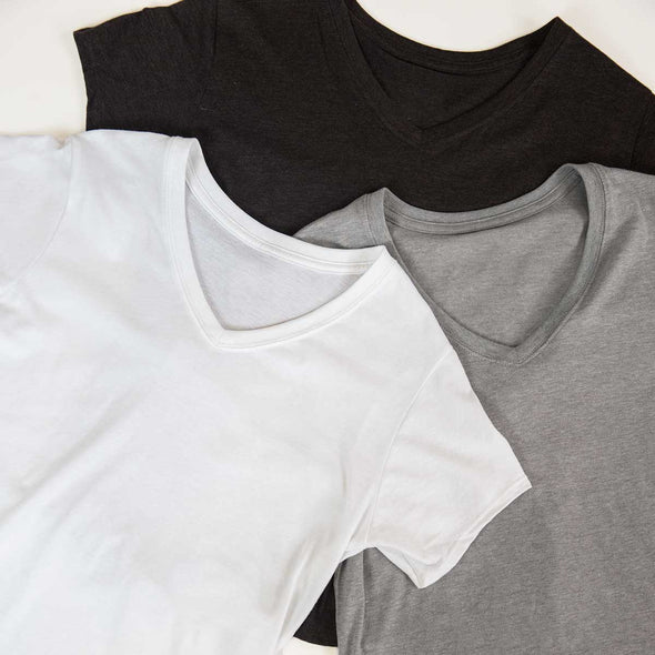 Women's Basic Recycled V-Neck Bundle