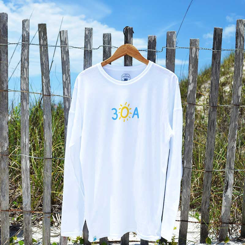 long sleeve hand-drawn 30A recycled shirt