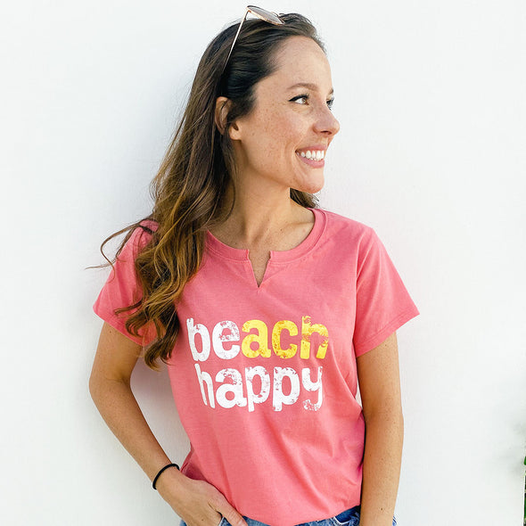 Beach Happy Recycled Split T