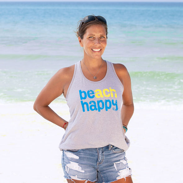 BEACH HAPPY® Recycled Tank Top Gray