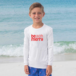 Youth Beach Merry Candy Cane Long Sleeve