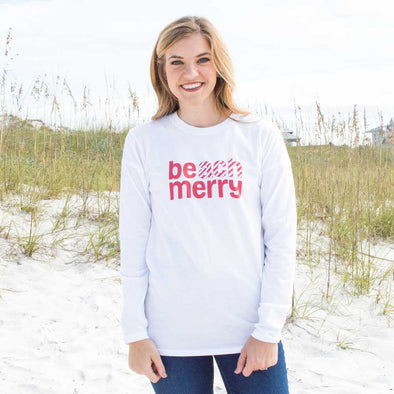 Beach Merry Candy Cane Recycled Long Sleeve