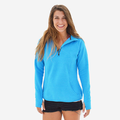 Women's Basic Recycled 1/4 Zip Sweatshirt