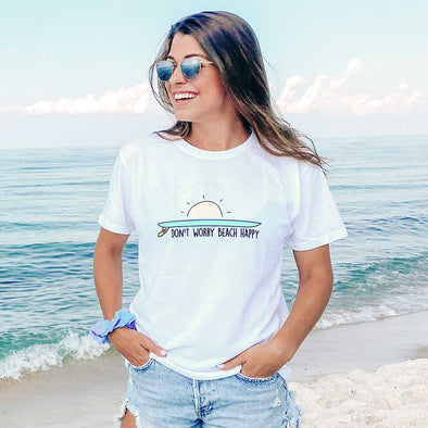 Don't Worry Beach Happy Recycled Tee