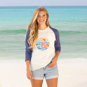 30A Here Comes the Sun Recycled Baseball Shirt