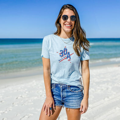 Americas Beach Star Recycled Tee