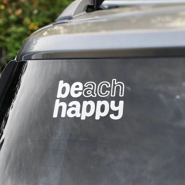 Beach Happy Vinyl Sticker