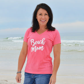 30A Beach Mom Recycled V-Neck