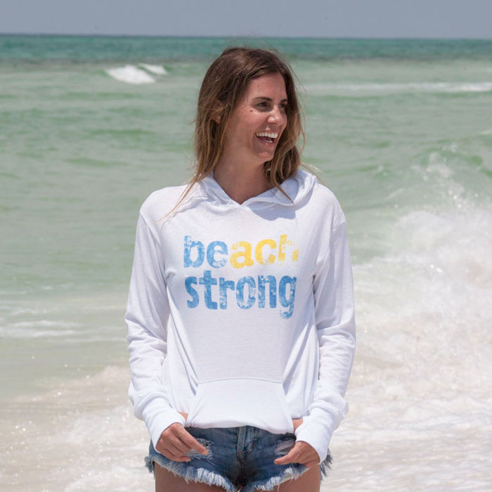 Beach Strong Recycled Hoodie with 50 Percent of Profits to Charity