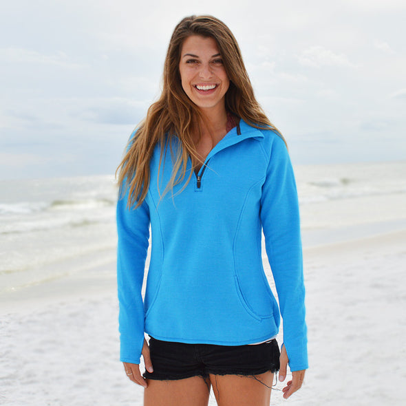 30A Solid Recycled Quarter Zip Sweatshirt