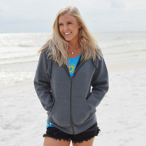 30A Solid Full Zip Recycled Sweatshirt