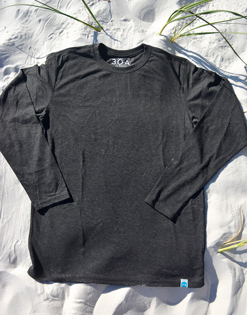 long-sleeve solid (no design) recycled shirt