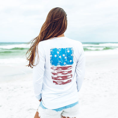 Beach Fish Flag Recycled Long Sleeve Sunshirt