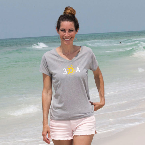 30A Hand-Drawn Recycled V-Neck
