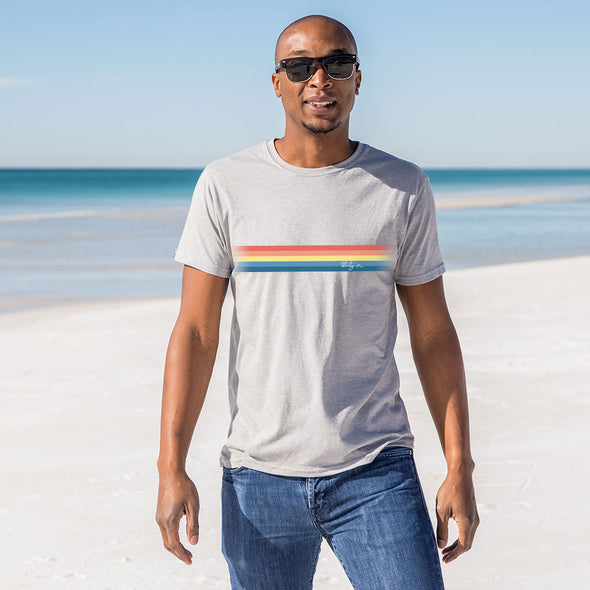 Thirty A Retro Stripe Recycled Tee
