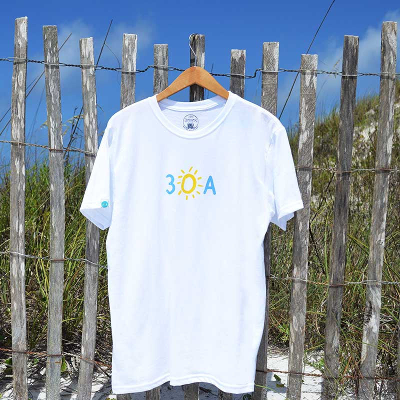 hand-drawn 30A recycled shirt