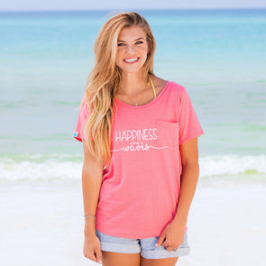 30A Happiness Comes in Waves Recycled Tee