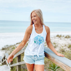 Keep Our Beach Happy Recycled Tanktop