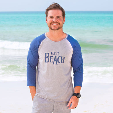 30A Let It Beach Recycled Baseball Tee