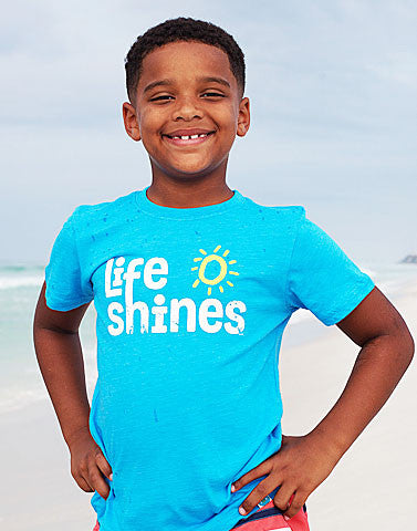 life shines recycled shirt for kids