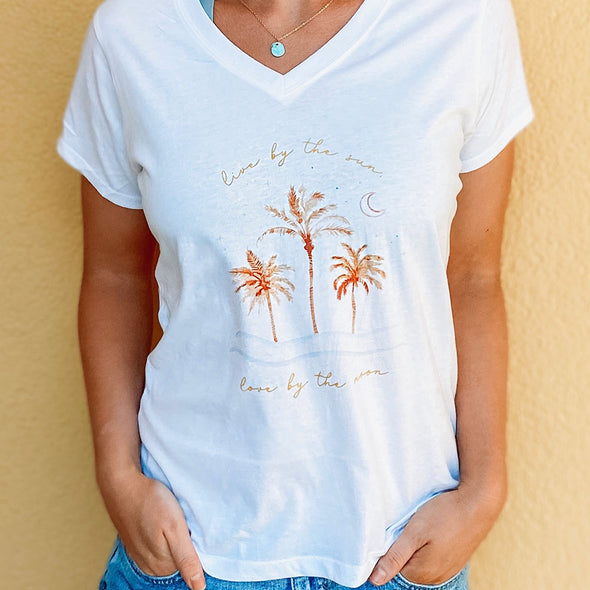 Live by the Sun Love by the Moon 30A X My Life Well Loved Recycled V-Neck