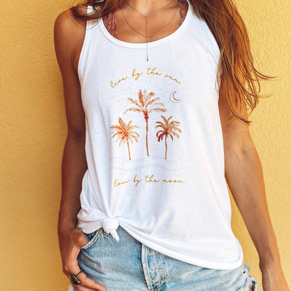 Live by the Sun Love by the Moon 30A X My Life Well Loved Recycled Tank